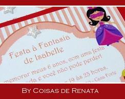 Convite festa � fantasia