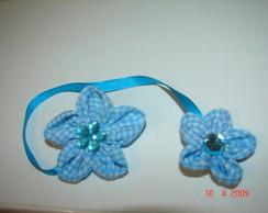 Marcador de p�ginas azul com pedrinhas