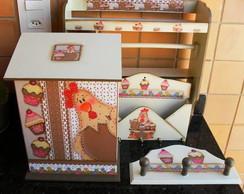 Kit Cozinha Cupcake