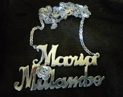 Cord�o Maria Mulambo com rosa em prata!!