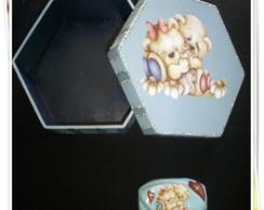 Kit caixa em mdf e sabonete decorado