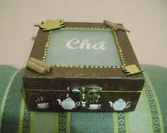 caixa de ch� decorada