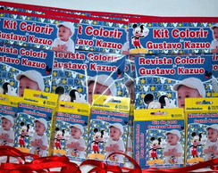 Revista kit de colorir c/giz e massinha
