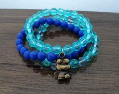 Conj Pulseira Azul - infantil