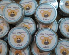 Latinha Mint To Be Urso Marrom e Azul