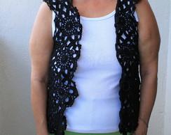 Blusa em croch� - manga curta