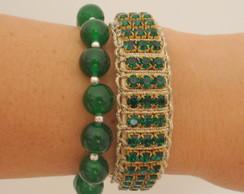 Duo de pulseiras esmeralda