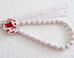colar customizado em tecido