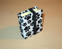 Bloquinho Mini Post-It forrado em tecido