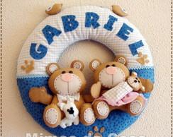 Enfeite De Porta Urso Fam�lia