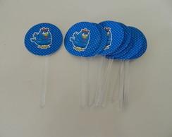 Topper Galinha Pintadinha - azul