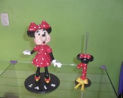 Topo de Bolo Minnie e vela