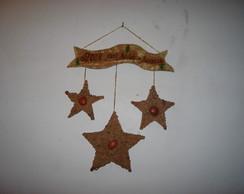 Arranjo 3 estrelas com placa