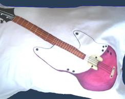 Fronha Guitarra Rosa