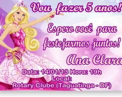 Barbie Escola de Princesas Convite