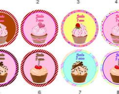 Cupcake �m� Geladeira Tag R�tulo