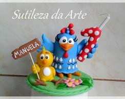 Topo de bolo / Vela Galinha Pintadinha