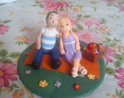 Casal em biscuit