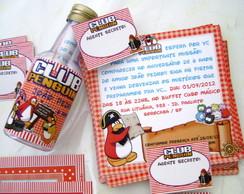 Convite para garrafinha: Club Penguin