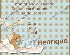 Convite Ch� de Beb� 9