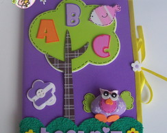CADERNO DECORADO ABC