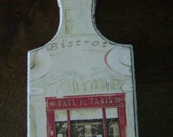 Porta chaves P tabua de carne Caf� Paris