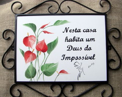 Placa Deus do Imposs�vel
