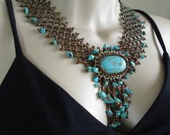 Maxi Colar Turquoise Stone