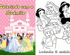 Revista colorir Princesas e Pr�ncipes