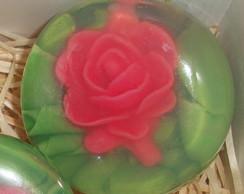 Sabonete Meia Esfera com Flor