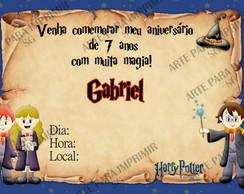 Convite Harry Potter 3