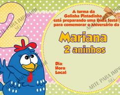Convite Galinha Pintadinha 1