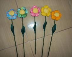 Flores decorativas Tecido