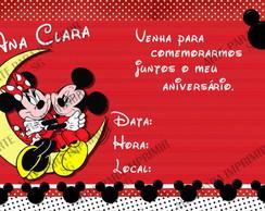 Convite Mickey e Minnie 2