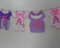 Varal De Roupinhas De Beb� Personalizado