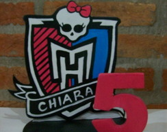 Topo de Bolo - Monster High - mdf