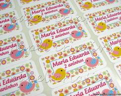 Etiqueta Adesiva Mn - sweet birds