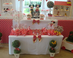 Decora��o de mesa tema Minnie