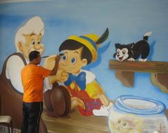 Pintura artistica na parede