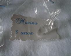 Sapatinho de cristal P com tag embalado
