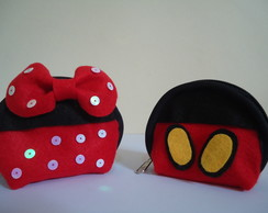 Porta moeda MICKEY E MINNIE c/ 10