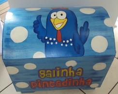 BA� GRANDE EM MDF DA GALINHA PINTADINHA