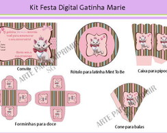 Kit Festa Digital Gatinha Marie
