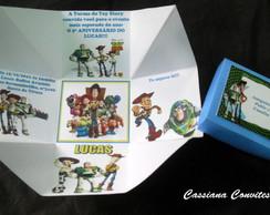Convite Caixa Toy Story
