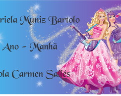 Etiqueta Escolar - BARBIE POP STAR