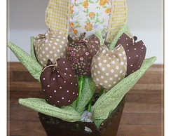 Vaso de Coruja com Tulipa