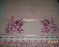 Toalha de Lavabo em Patch Aplique.