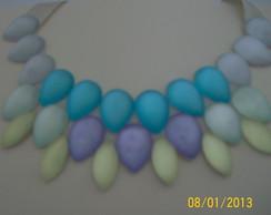 Maxi colar arco iris lil�s