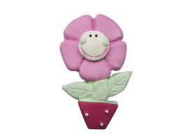 Puxador Flor Vaso Rosa