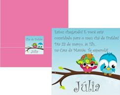Convite Ch� de Beb� P�ssaros